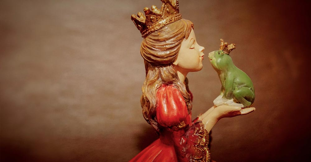 The princess kisses a frog - we can't love more than one person because of our beliefs?